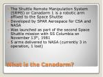 what is the canadarm