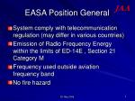 easa position general