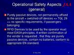 operational safety aspects general