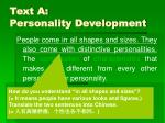 text a personality development