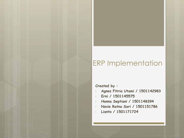 erp implementation n.