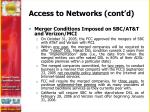 access to networks cont d1