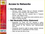 access to networks
