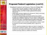 proposed federal legislation cont d1