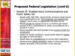 proposed federal legislation cont d2