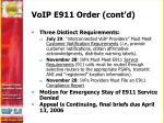 voip e911 order cont d