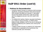 voip e911 order cont d1