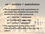 ad similate assimilation