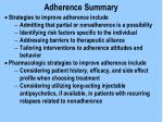 adherence summary
