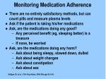 monitoring medication adherence