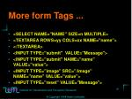 more form tags