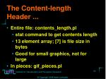 the content length header