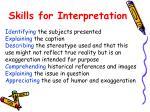 skills for interpretation
