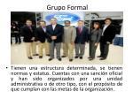 grupo formal
