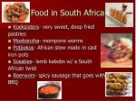 food in south africa