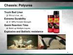 chassis polyurea