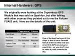 internal hardware gps