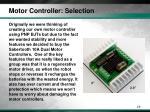 motor controller selection