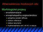 atheroskleroza mozkov ch c v