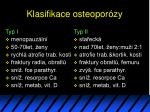 klasifikace osteopor zy