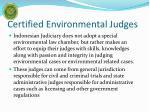 certified environmental judges