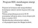 program r80 membangun sinergi bangsa