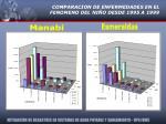 comparacion de enfermedades en el fenomeno del ni o desde 1995 a 1999