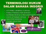 terminologi hukum dalam bahasa inggris