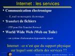 internet les services