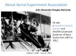 about aerial experiment association
