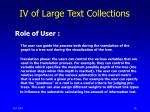 iv of large text collections7