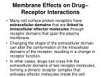 membrane effects on drug receptor interactions1