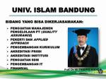 univ islam bandung