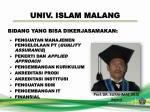 univ islam malang