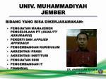 univ muhammadiyah jember