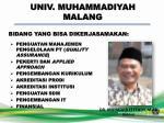 univ muhammadiyah malang