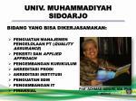 univ muhammadiyah sidoarjo