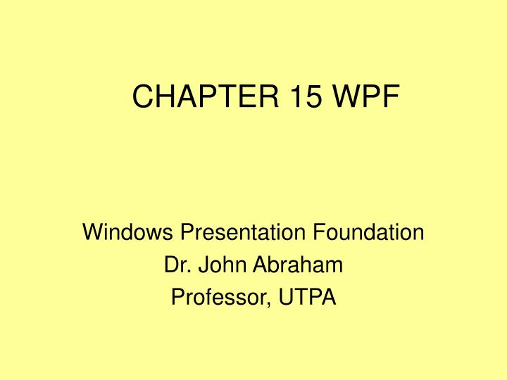 chapter 15 wpf n.