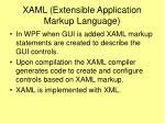 xaml extensible application markup language