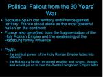 political fallout from the 30 years war