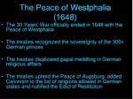the peace of westphalia 1648