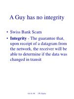 a guy has no integrity