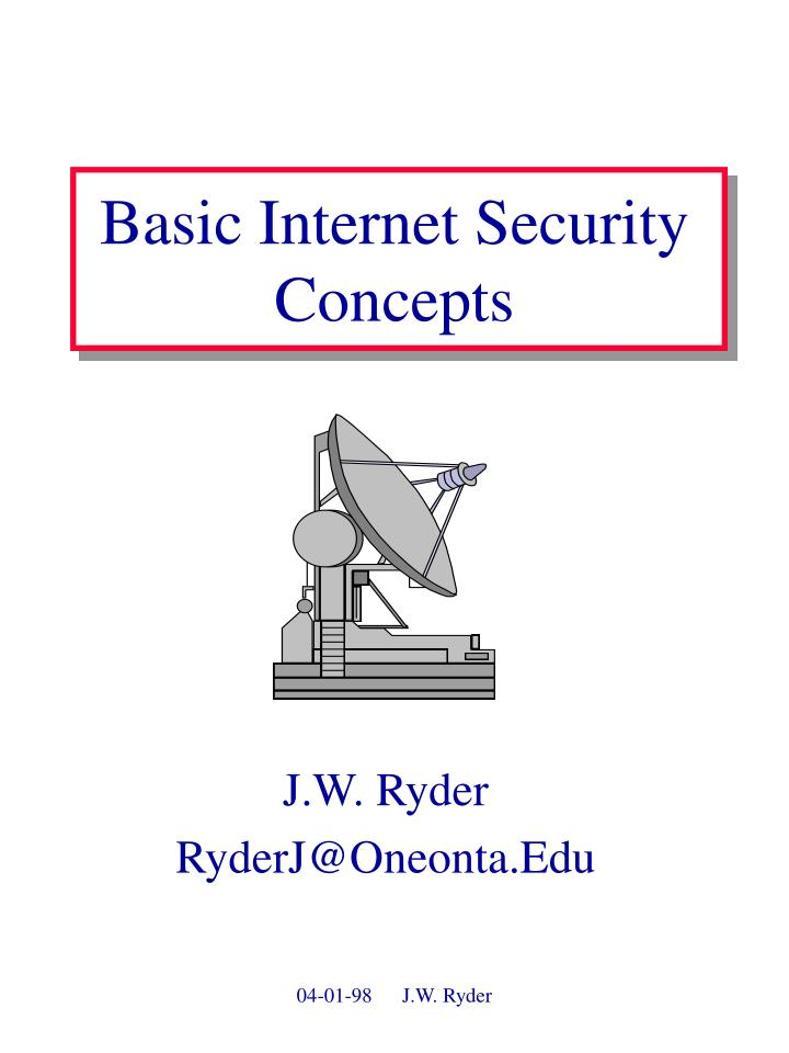 basic internet security concepts n.