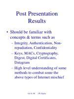 post presentation results