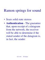 ramon springs for sound