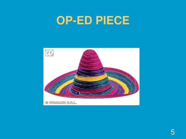 OP-ED PIECE