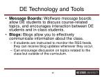 de technology and tools