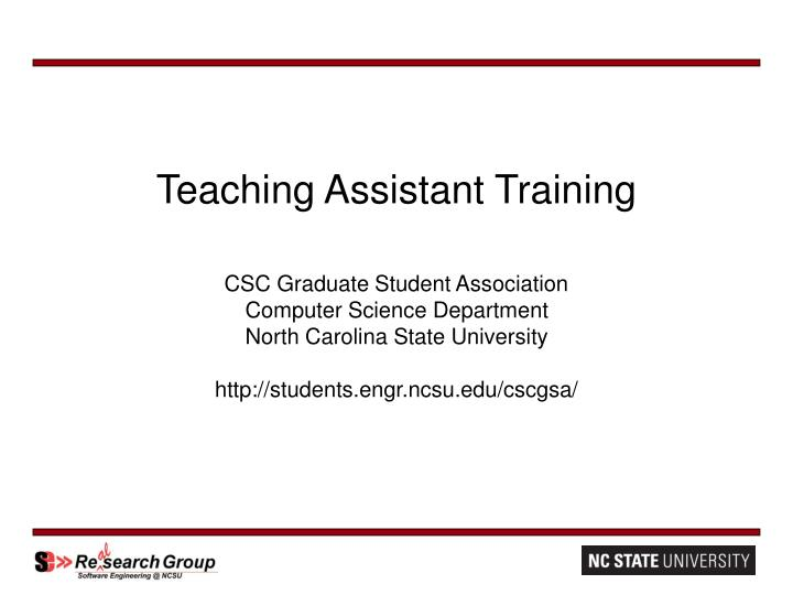 teaching assistant training n.