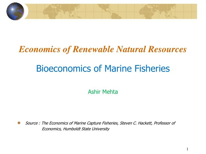 economics of renewable natural resources n.