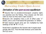harvesting under open access